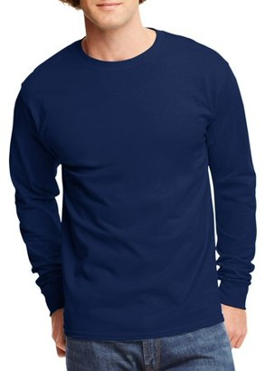 Hanes Mens Tagless Cotton Crew Neck Long-Sleeve Tshirt