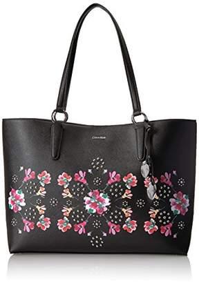 Calvin Klein Reese Floral Printed Saffiano E/w Tote