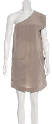 Chloé One-Shoulder Silk Dress