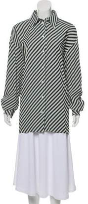 Celine Textured High-Low Tunic