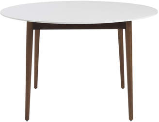 Lulu & Georgia Hanee Round Dining Table, Ivory & Dark Walnut