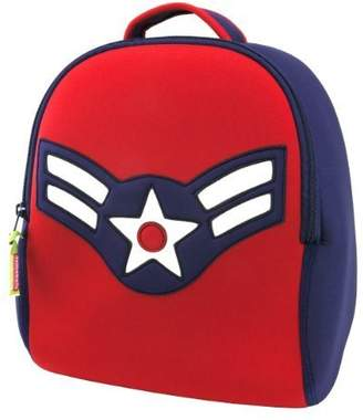 Dabbawalla Bags Vintage Flyer Military themed Kids' Preschool & Toddler Backpack Navy/Red by Bags
