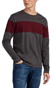 Barneys New York MEN'S COLORBLOCKED COTTON LONG-SLEEVE T-SHIRT
