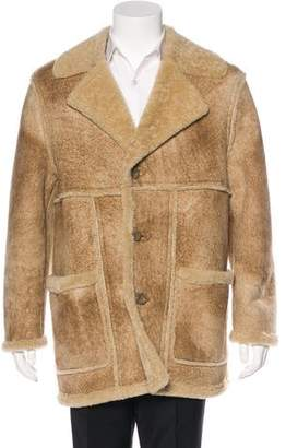Dolce & Gabbana Shearling Notch-Lapel Coat
