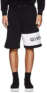 Givenchy Men's Logo-Embroidered Cotton Shorts - Black