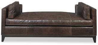 Williams-Sonoma Presidio Settee, Faux Crocodile