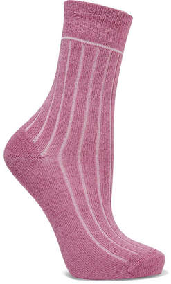 Maria La Rosa Metallic Cotton-blend Socks