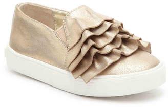 Kenneth Cole New York Kam Ruffle Toddler Slip-On Sneaker - Girl's