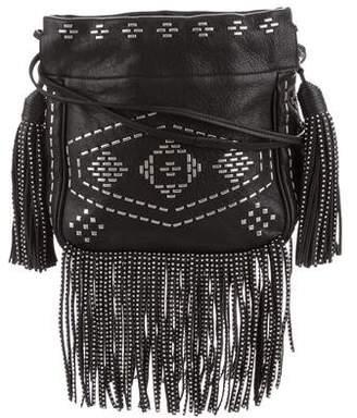 Saint Laurent Small Helena Fringe Bucket Bag