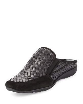 Sesto Meucci Galaxy Woven Comfort Mule, Black $285 thestylecure.com
