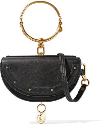 Chloé Nile Bracelet Small Textured-leather Shoulder Bag - Black