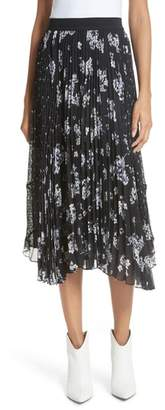 Rebecca Taylor Pleated Hydrangea Skirt