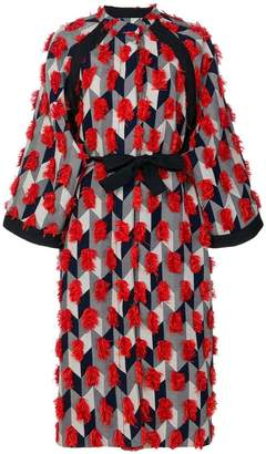 Henrik Vibskov fringed geometric print dress coat