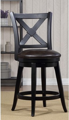 Unbrended Bailey Counter Height Swivel Stool, Black