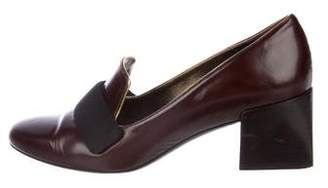 Lanvin Leather Low-Heel Pumps