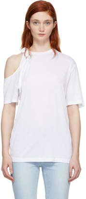 Sjyp White Side Strap T-Shirt
