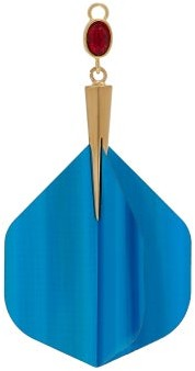 Hillier Bartley - Gold Plated Dart Charm - Womens - Blue