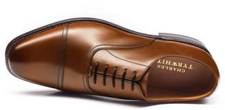 Charles Tyrwhitt Tan Bennett Toe Cap Oxford Shoes Size 7.5