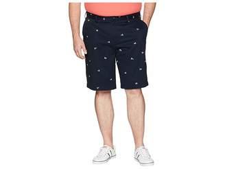 Nautica Big Tall Printed Flag Shorts