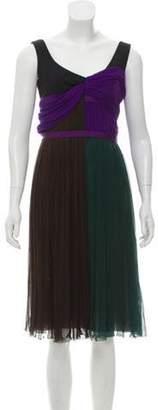 Prada Colorblock Silk Dress green Colorblock Silk Dress