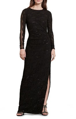 Women's Lauren Ralph Lauren Sequin Lace Gown $234 thestylecure.com