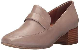 Gentle Souls Kenneth Cole Women's Eliott Menswear Inspired Dress Loafer Block Heel Shoe