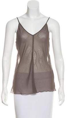 Marc Jacobs Sheer Sleeveless Top