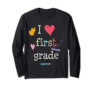 I Heart First Grade Student Learning Long Sleeve Shirt