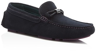 Ted Baker Carlsun Suede Drivers $175 thestylecure.com