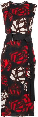 Marni Sleeveless rose print dress