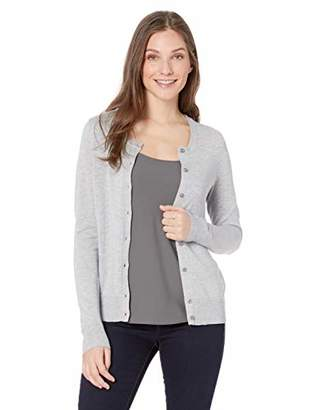 Amazon Essentials Women s Lightweight Crewneck Cardigan Sweater 24303cf67