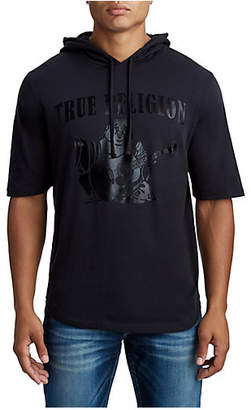 True Religion MENS SHORT SLEEVE PULLOVER HOODIE
