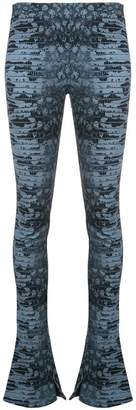 Roberto Cavalli flared printed leggings
