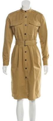 Dries Van Noten Button-Up Long Sleeve Dress