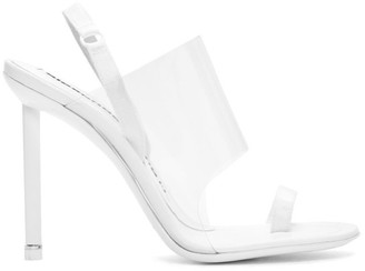 Alexander Wang White Kaia Heeled Sandals