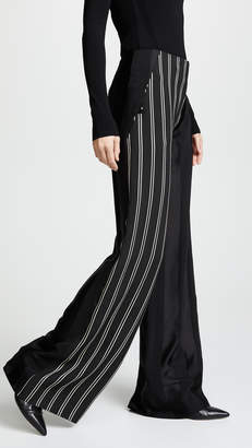 Esteban Cortazar Bold Stripe Side Closure Pants