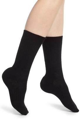 Nordstrom Cable Knit Cashmere Blend Crew Socks