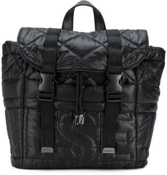 Diesel padded logo backpack