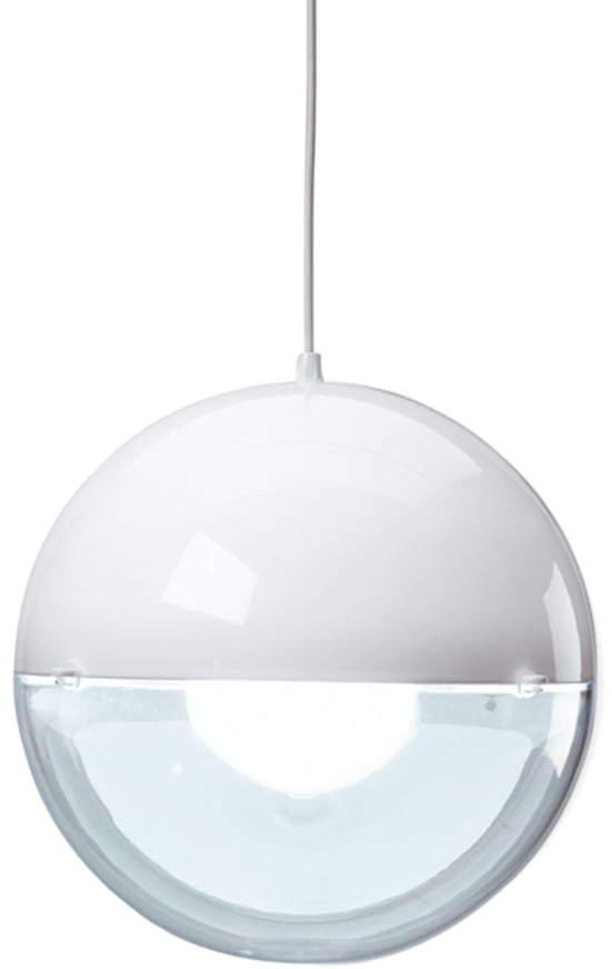 Orion Pendelleuchte, solid Weiß / transparent