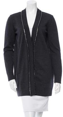 Versace Embellished Wool Cardigan