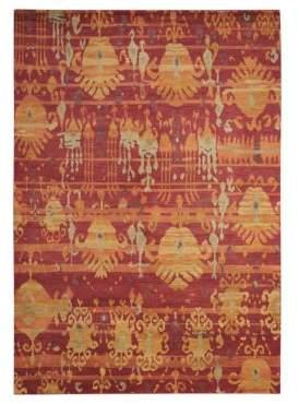 Nourison Rugs Dune Handmade Ikat Print Wool Rug