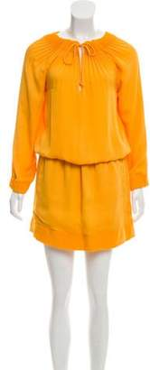 Diane von Furstenberg Long Sleeve Mini Dress