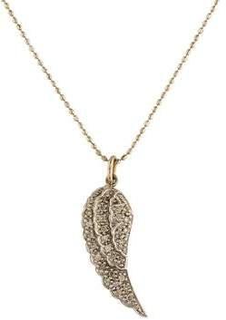 Sydney Evan 14K Diamond Wing Pendant Necklace