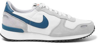 Nike Air Vortex Leather-Trimmed Suede, Nylon And Mesh Sneakers - Men - Gray
