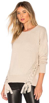 Bobi Cashmere Lace Up Sweater