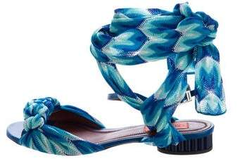 Missoni Chevron Wrap-Around Sandals