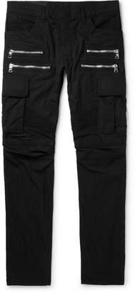 Balmain Slim-Fit Cotton-Blend Cargo Trousers
