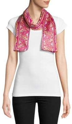 Echo Hibiscus Silk Rectangular Scarf