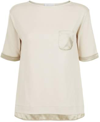 Fabiana Filippi Satin Trim T-Shirt