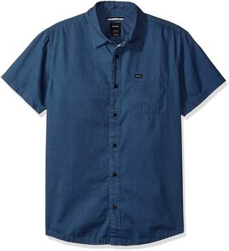 RVCA Men's Service Short Sleeve Woven Shirt
